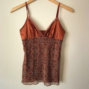 Brown pattern tank top
